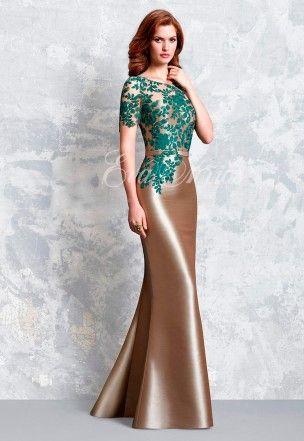 vestido de fiesta de lucia botella colección 2017 modelo 1151 en eva