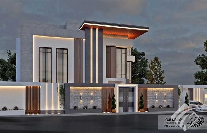 مزاد مهندس واجهات خارجيه بالرياض للفلل والمحلات والمراكز التجاريه House Styles Outdoor Decor Mansions