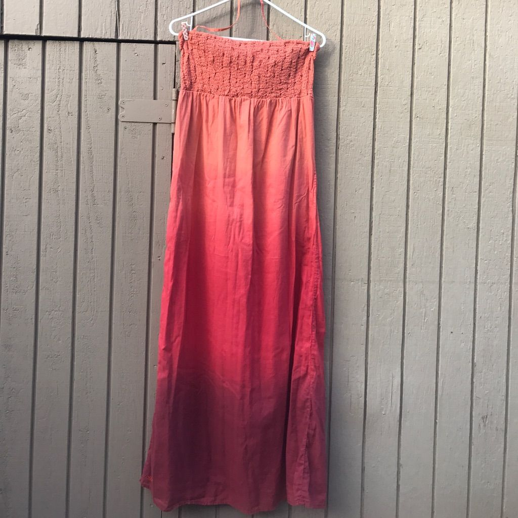 Billabong long dress in a beautiful maroon ombr billabong and products