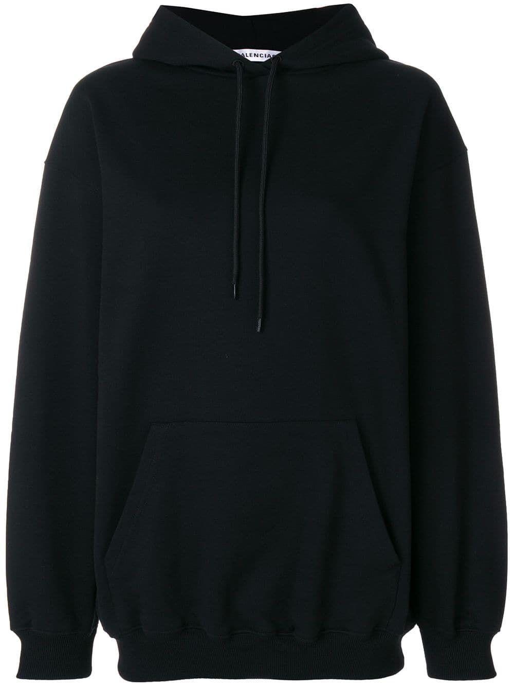 Balenciaga Logo Hoodie Farfetch Trendy Hoodies Hoodies Black Hoodie [ 1334 x 1000 Pixel ]