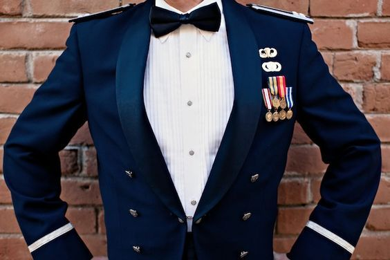 City Chic Military Engagement Shoot Air Force Mess Dress