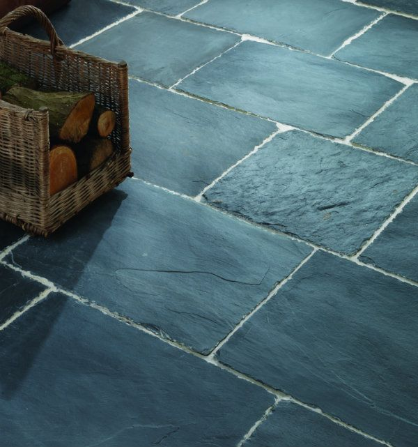 Shepton Flagstones In A Worn Finish. These Slate