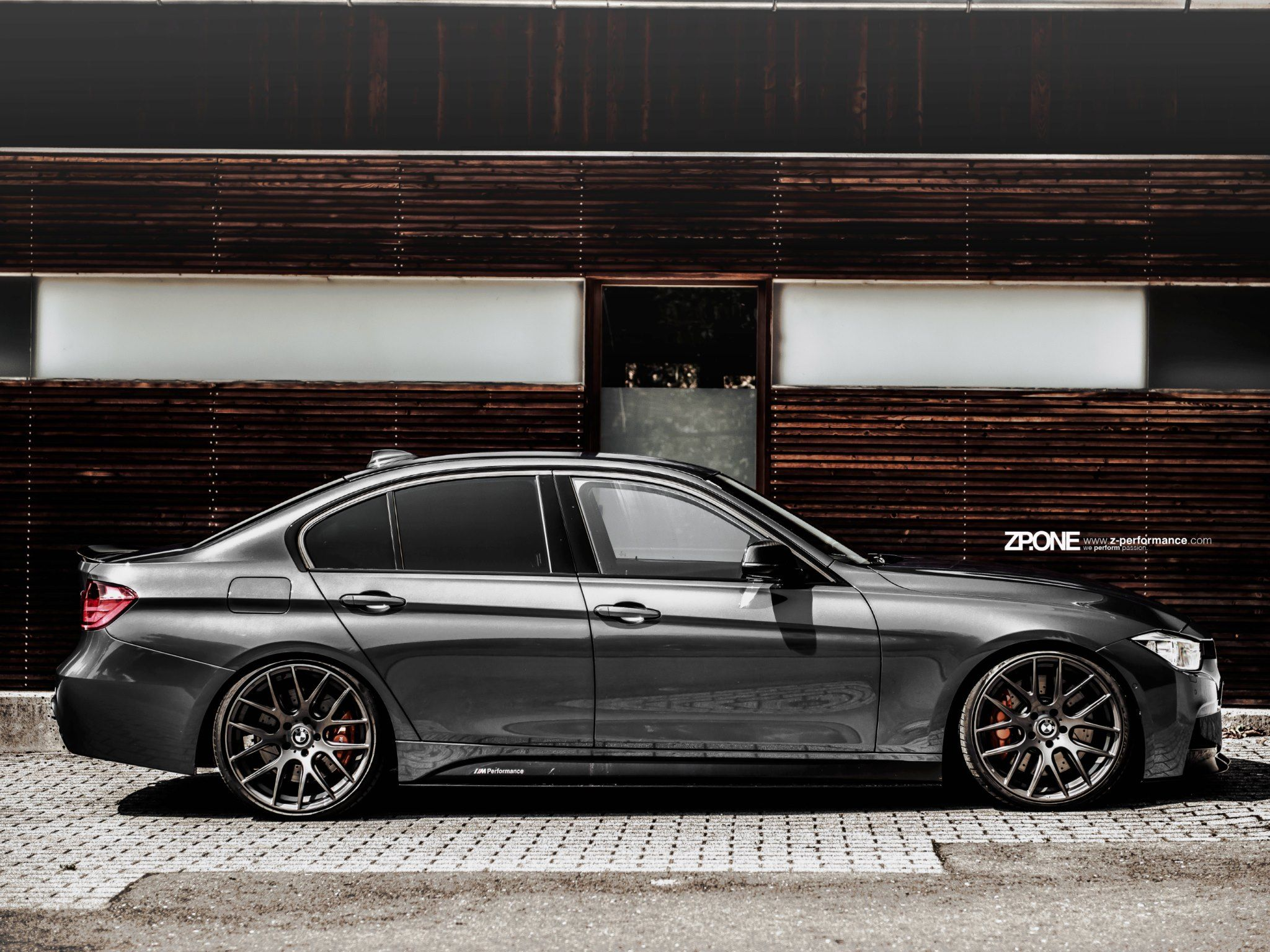 Bmw F30 With Personalized Wheels Wallpaper Photo