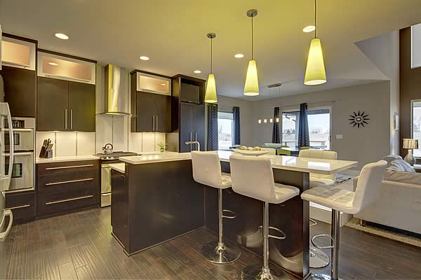 Widhalm Custom Homes Omaha Woodland Model Kitchen Modern