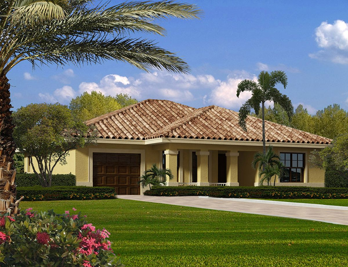Plan 32210aa Compact Size With Three Bedrooms Mediterranean House Plans Mediterranean Homes Mediterranean Style House Plans