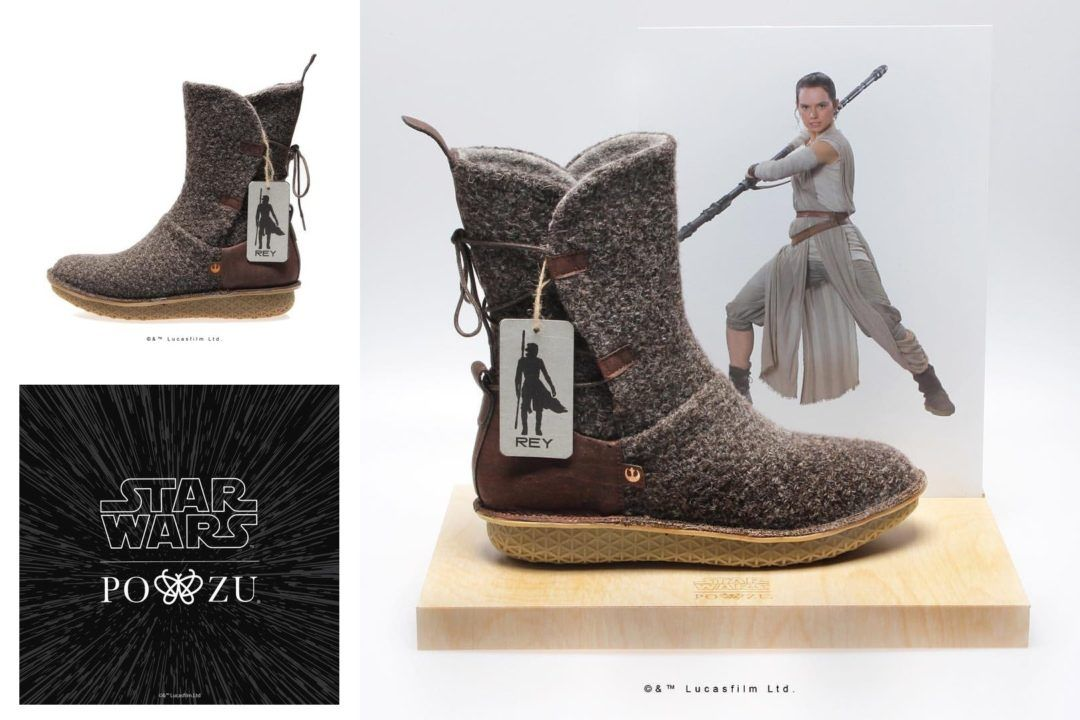 PO-ZU x Star Wars - Rey boot preview