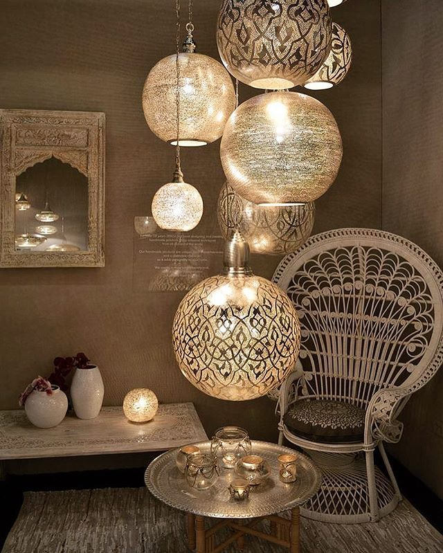 Lanterns creating a circular theme