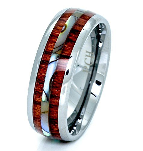 Tungsten Hawaiian Koa Wood and Abalone Ring 8mm Comfort Fit Band (8) PCH Jewelers http://www.amazon.com/dp/B01BIDUC8C/ref=cm_sw_r_pi_dp_7R23wb14BX9WH