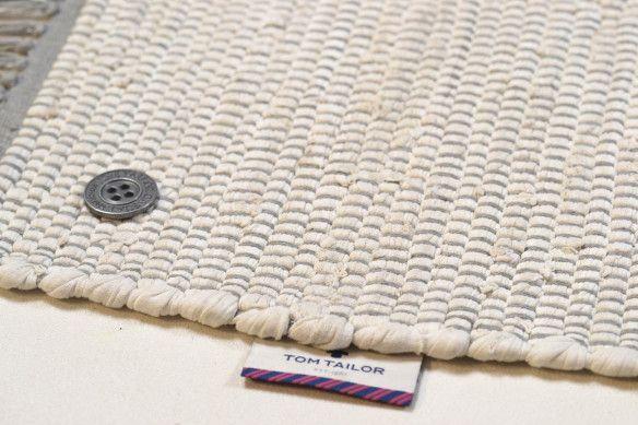 cute cheap best online exclusive range Tom Tailor Fleckerlteppich Cotton Colors Weiß 101 ...