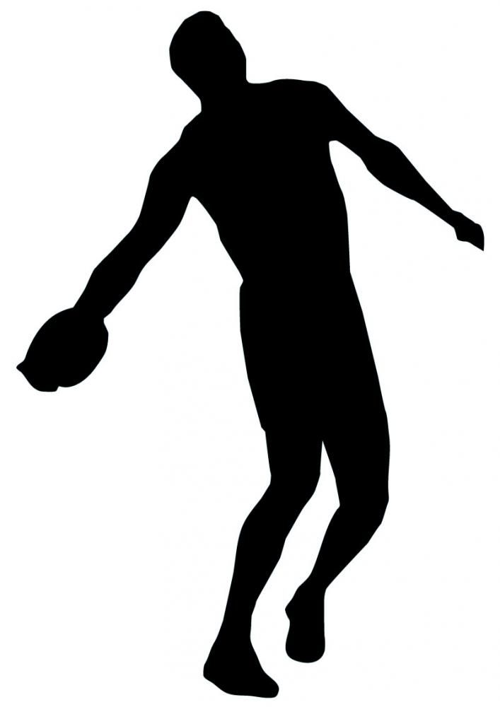 Discus thrower stock vector. Illustration of ready ... |Discus Thrower Silhouette