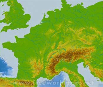 Blank Physical Map Of Western Europe Europe Maps Pinterest - Europe physical map