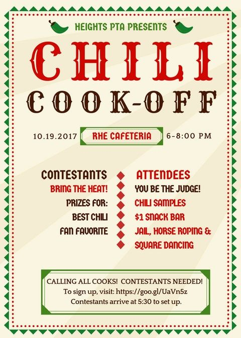 Image Result For Chili Cook Off Flyer Chili Cook Off Cook Off Chili