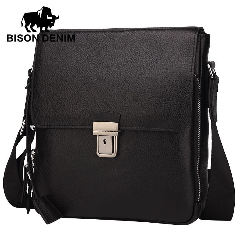 f9be29f74a6e men s bags Genuine Leather Shoulder Messenger Bag Men cover Black Business  Bag top-handle bags