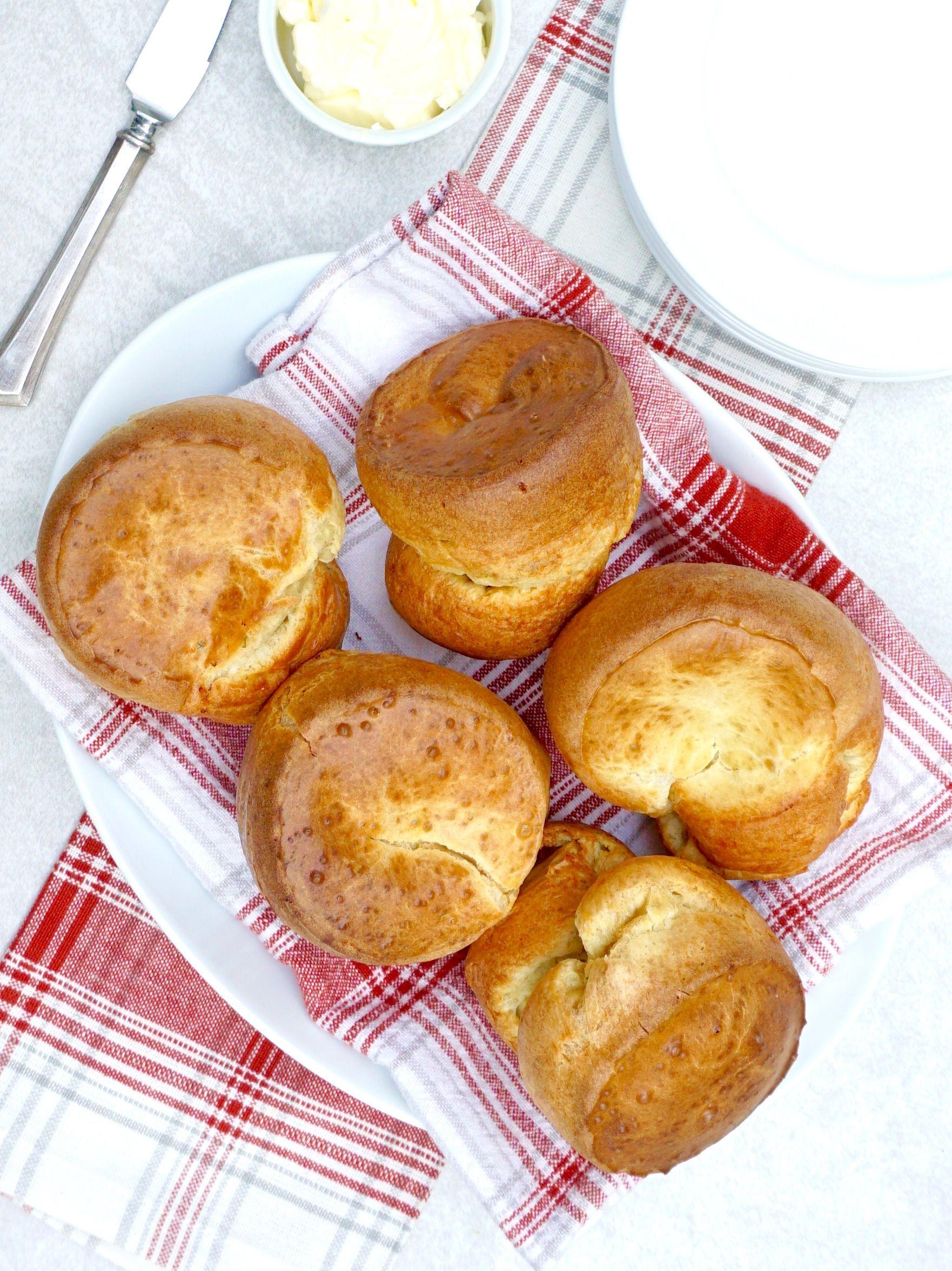 Parmesan Chive Popovers Are Fluffy Light Rolls With Chives Recipe Chive Popovers Popovers Savory Bread Recipe