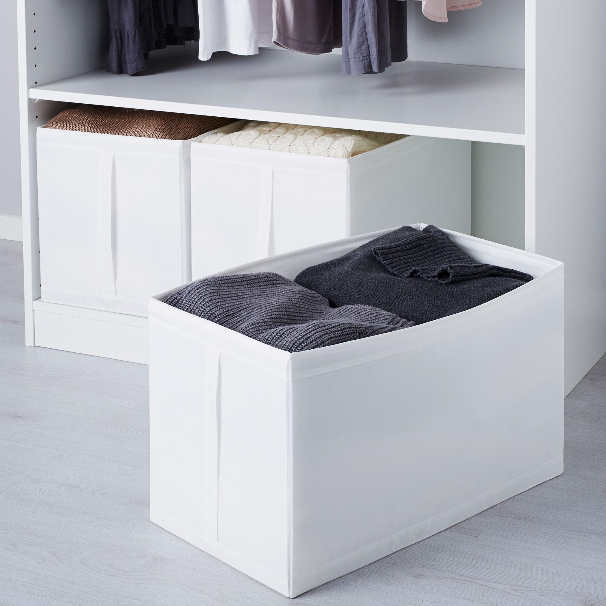 Skubb Rangement Tissu Blanc 31x55x33 Cm Ikea En 2020 Rangement Tissu Tissu Blanc Rangement Chambre