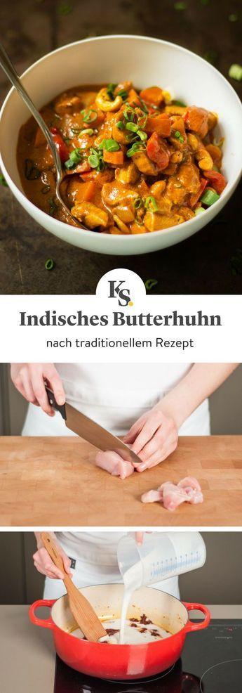 Butterhuhn in mild-würziger Tomatensoße | Rezept | Kitchen Stories