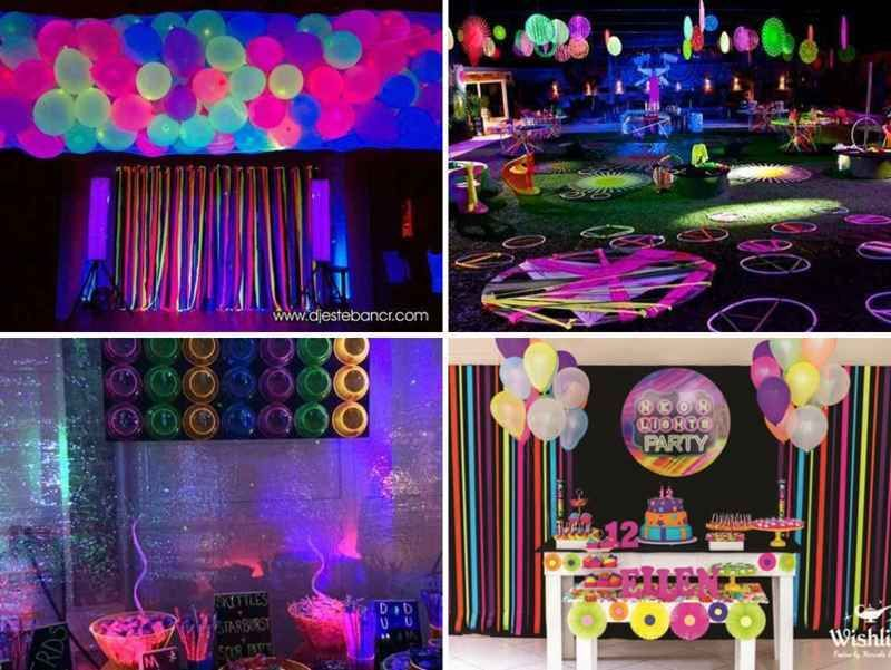 Decoracion de 15 a os en neon things to wear pinterest for Ideas para decorar fiestas de 15