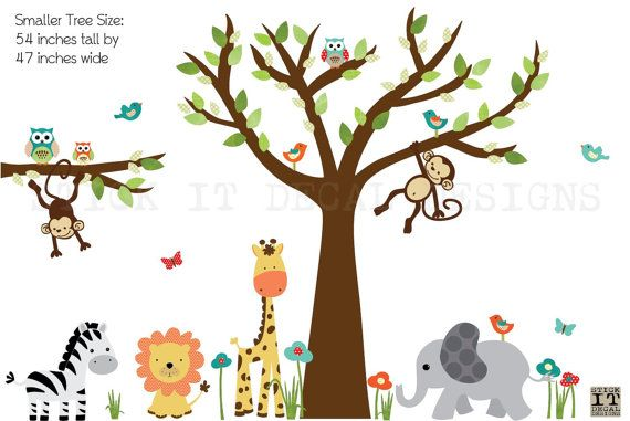 Kids Room Wall Decal, Nursery Wall Decal, Tree Wall Decal, Gender Neutral,
