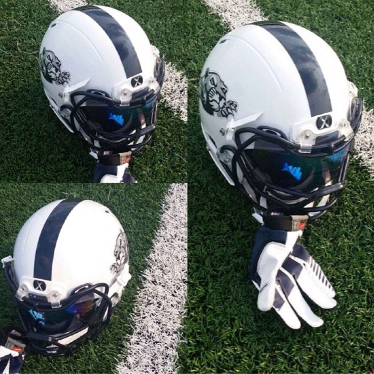 Check out the football helmet setup for the leyden lions