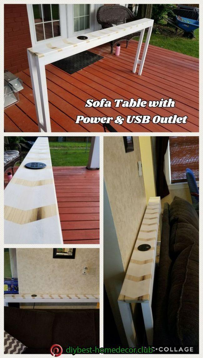 Diy Home Decor In 2020 Diy Sofa Table Diy Sofa Sofa Table