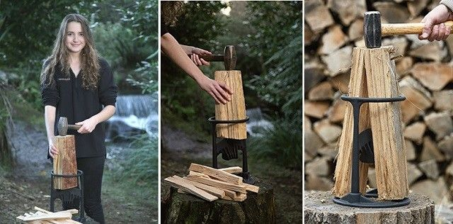 The Kindling Cracker Is A Creatively Safer And Easier Way To Split Wood