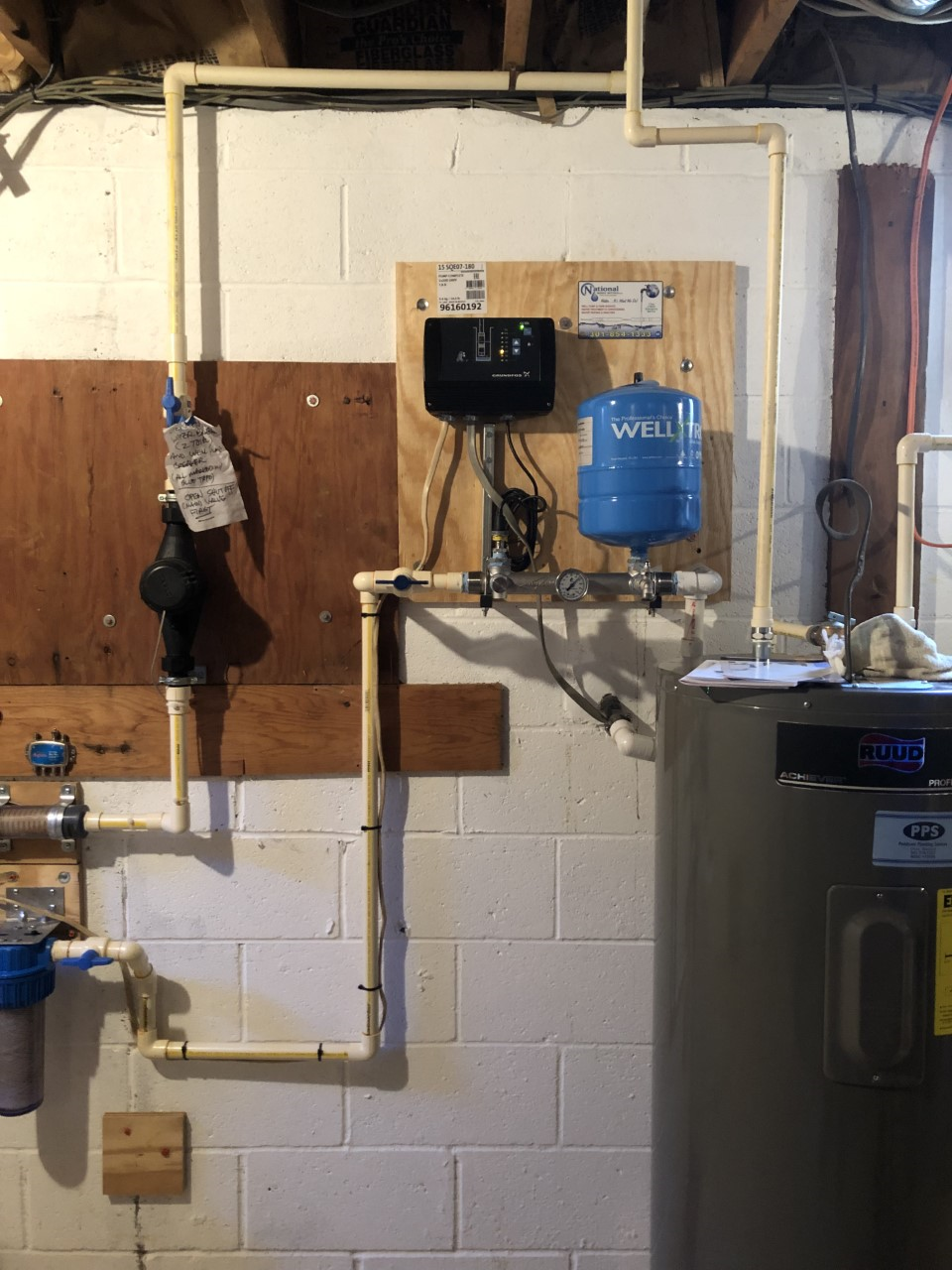 After Shot Of A Constant Pressure System Install Water Treatment Water Treatment System Well Pump