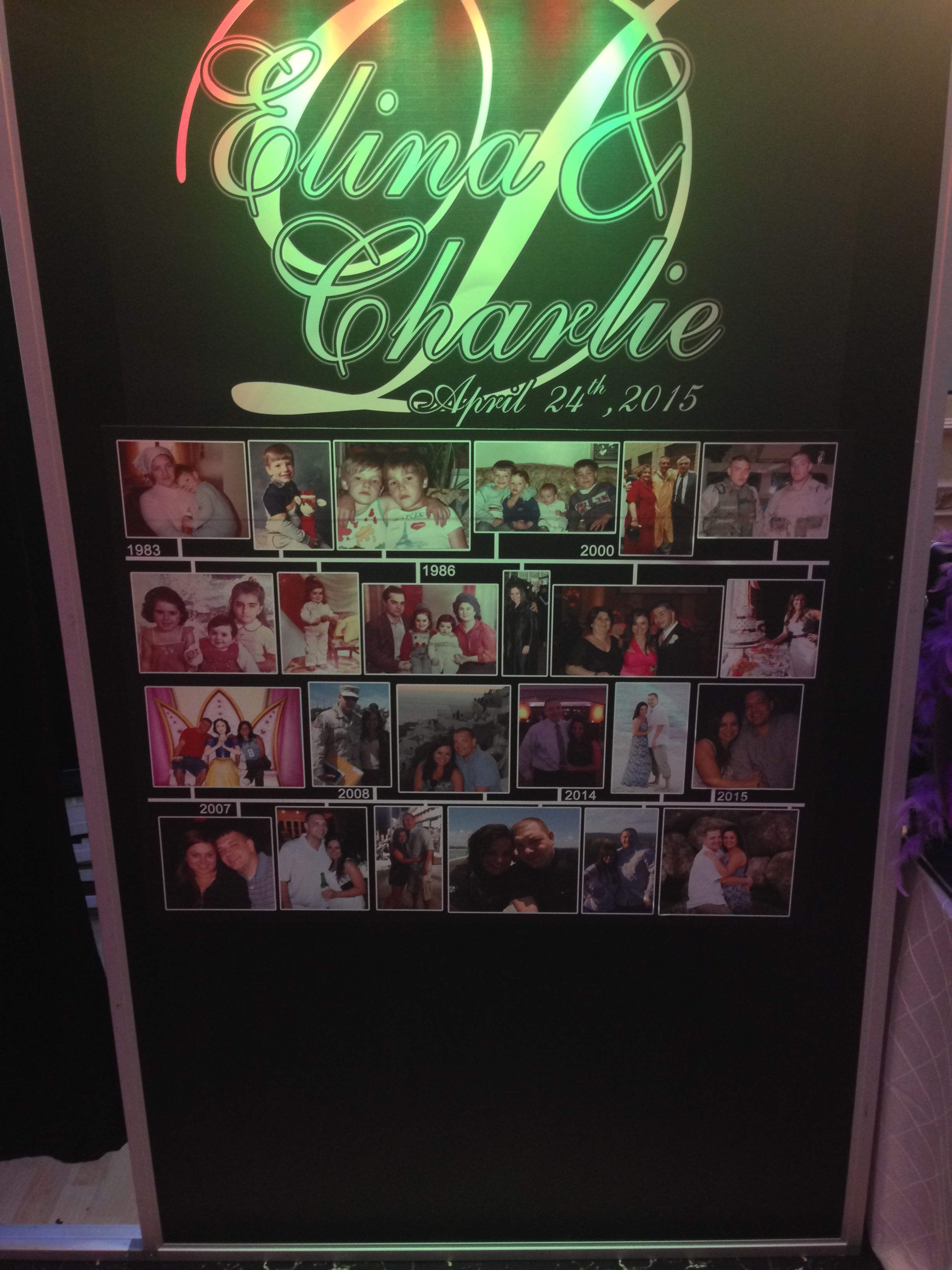 Check out the Timeline we offer for our custom booth events!