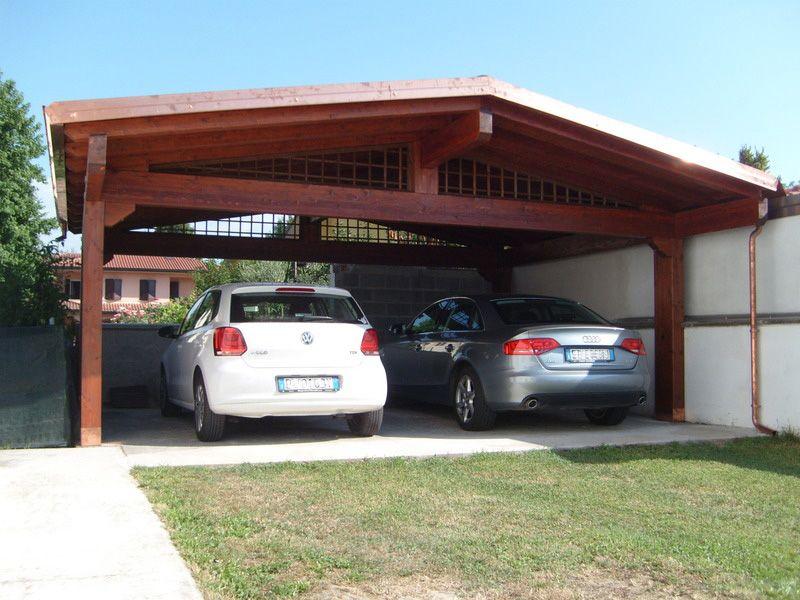 Carport a due falde linea classica dimensioni cm 600 x for Due progetti di garage per auto