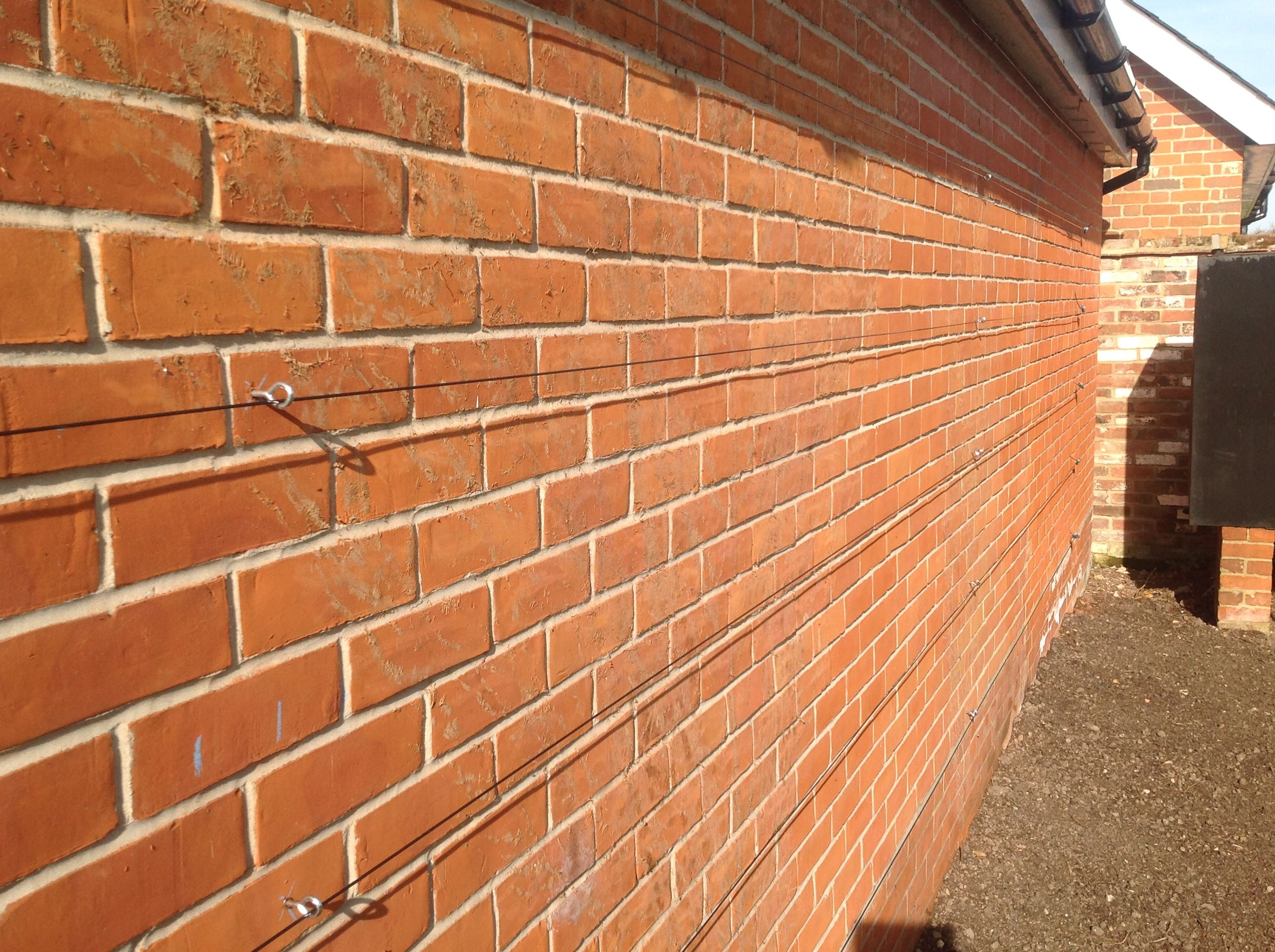 Installing A Gripple Trellis Kit On A Brick Wall
