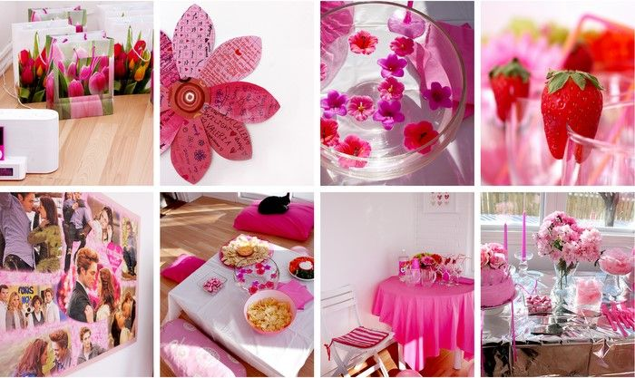 Teen Birthday Party Pink Party Decor