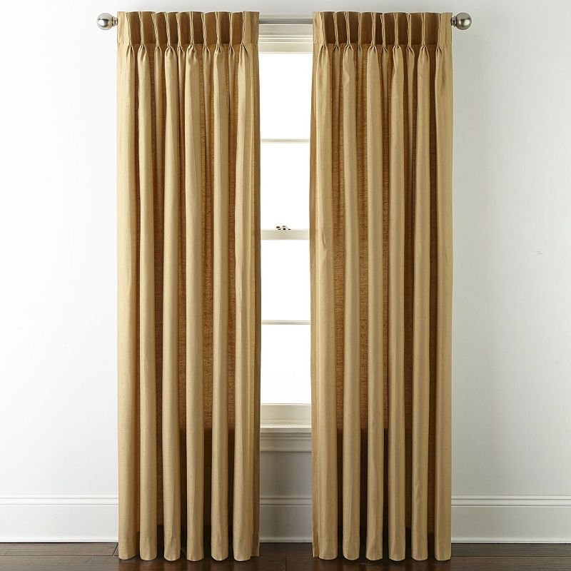 Jcpenney Home Supreme Pinch Pleat Curtain Panel Pinch Pleat