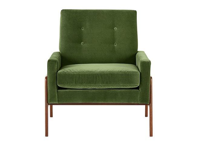 Cecil, fauteuil, velours vert impérial | Samt und Sessel