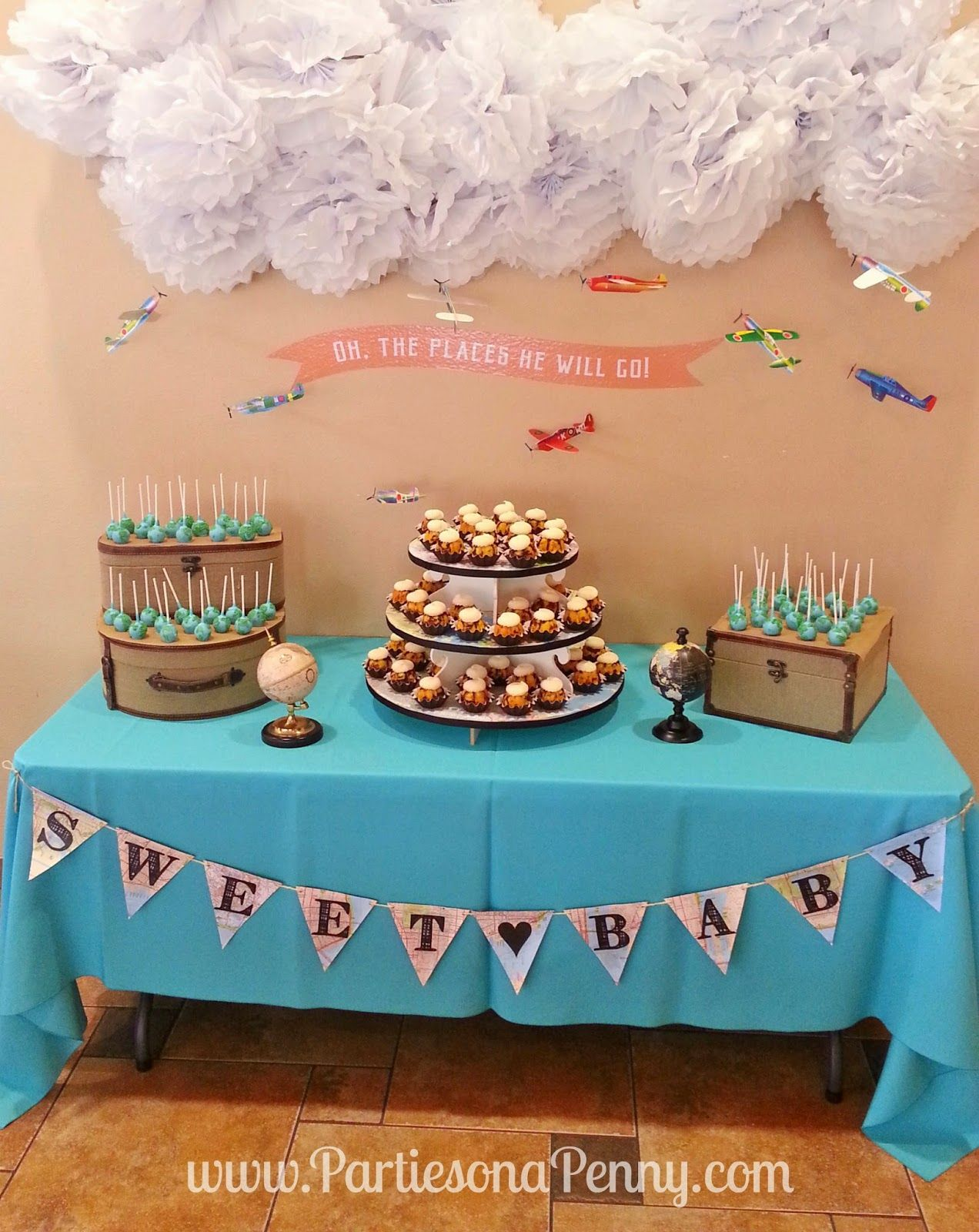 Travel Theme Ideas Travel Themed Baby Shower Dessert Table Www