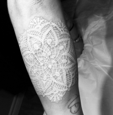 Like lace lace tattoo white ink and delicate for White lace tattoo