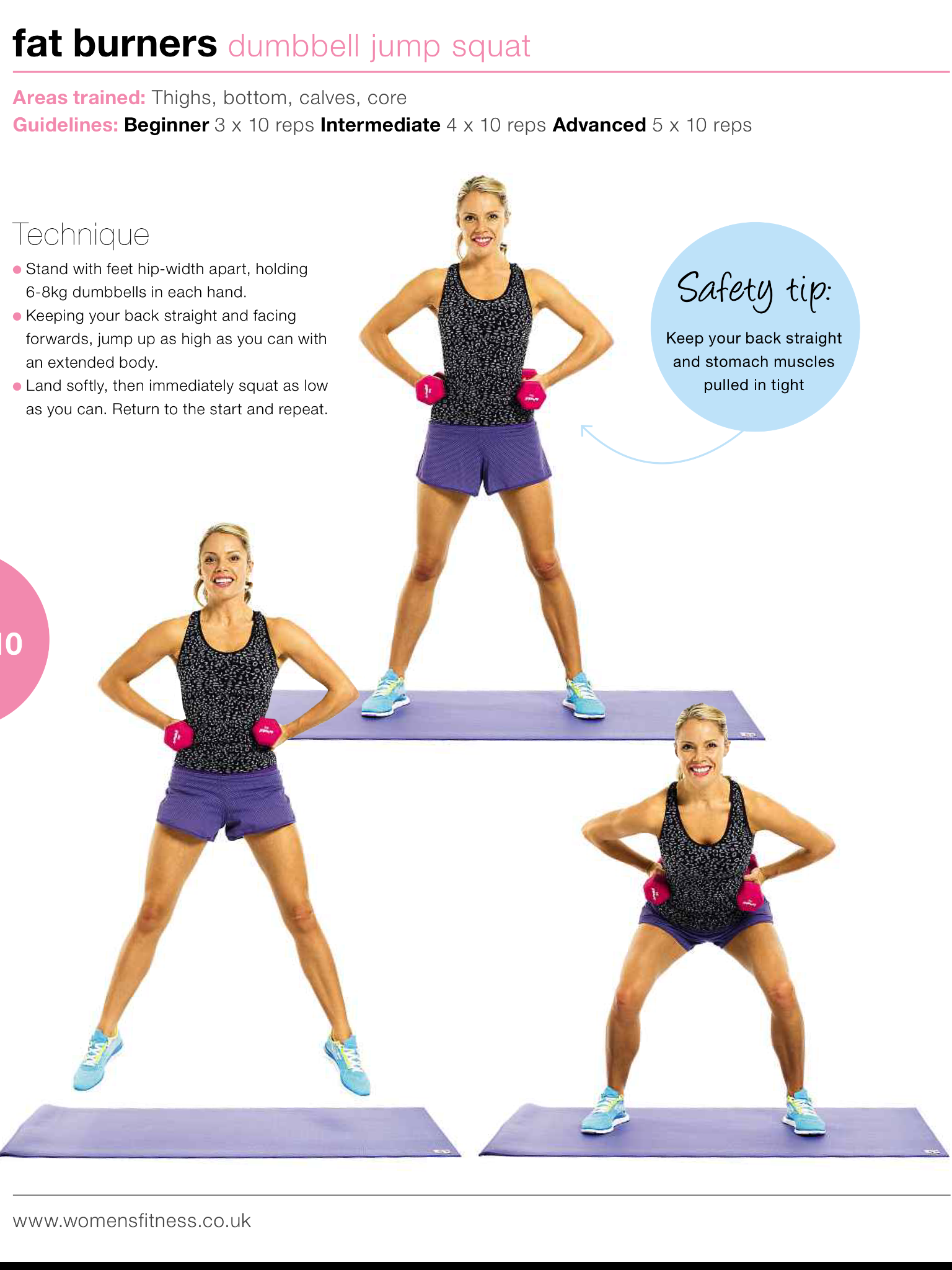 Pin by Jia Jia on Fitness & workouts Jump squats