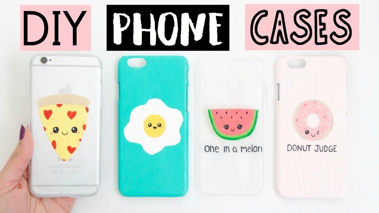 Diy Phone Cases Four Easy Cute Ideas Youtube Diy Phone