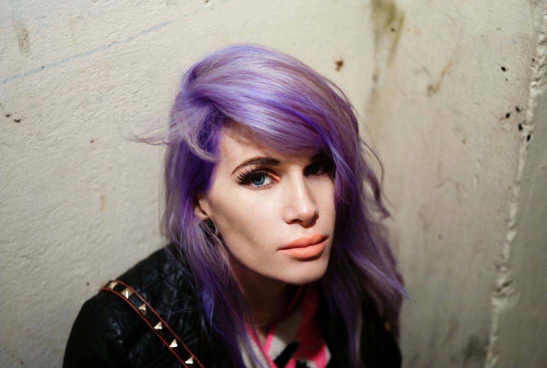 Purple hair dye boy john lou miles  muses of london  girls will be boys  pinterest