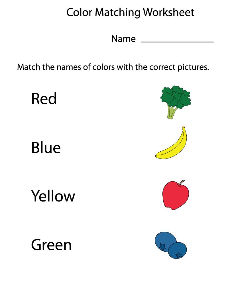 Preschool Worksheets Matching Color | Kids Worksheets Printable ...