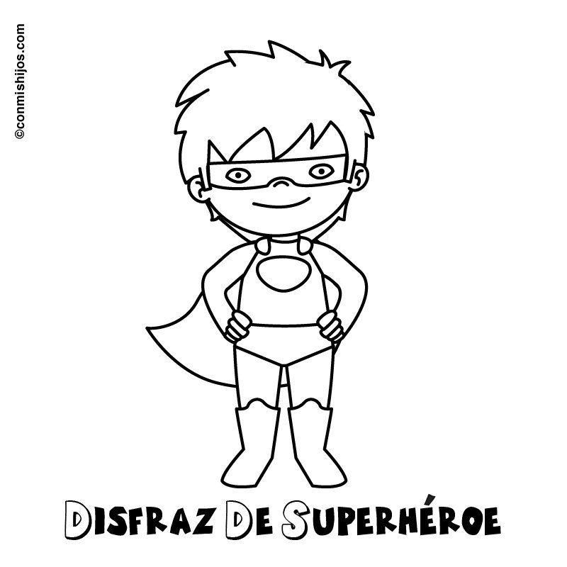 Imagen gratis para pintar de disfraz de superhéroe      Corel Draw ...