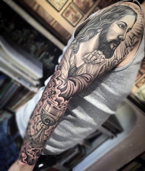 Top 101 Jesus Tattoo Ideas 2020 Inspiration Guide Tattoo Sleeve Men Jesus Tattoo Tattoos For Guys