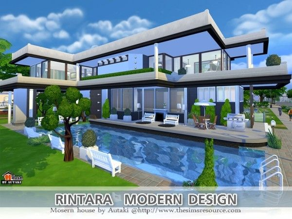 The sims resource rintara modern design by autaki sims for Sims 4 house plans