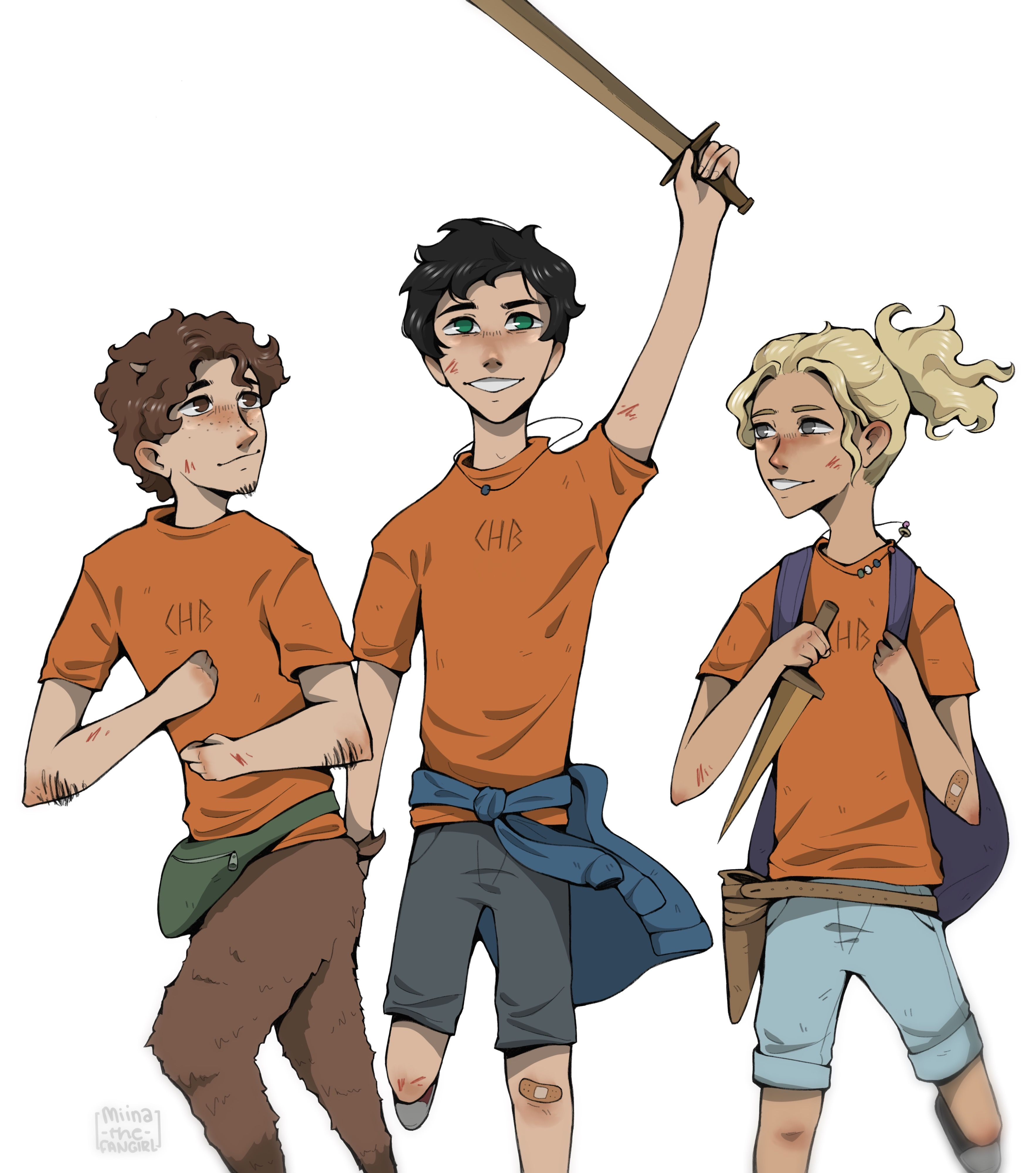 Iconic Trio By Miina The Fangirl Annabeth Hoo