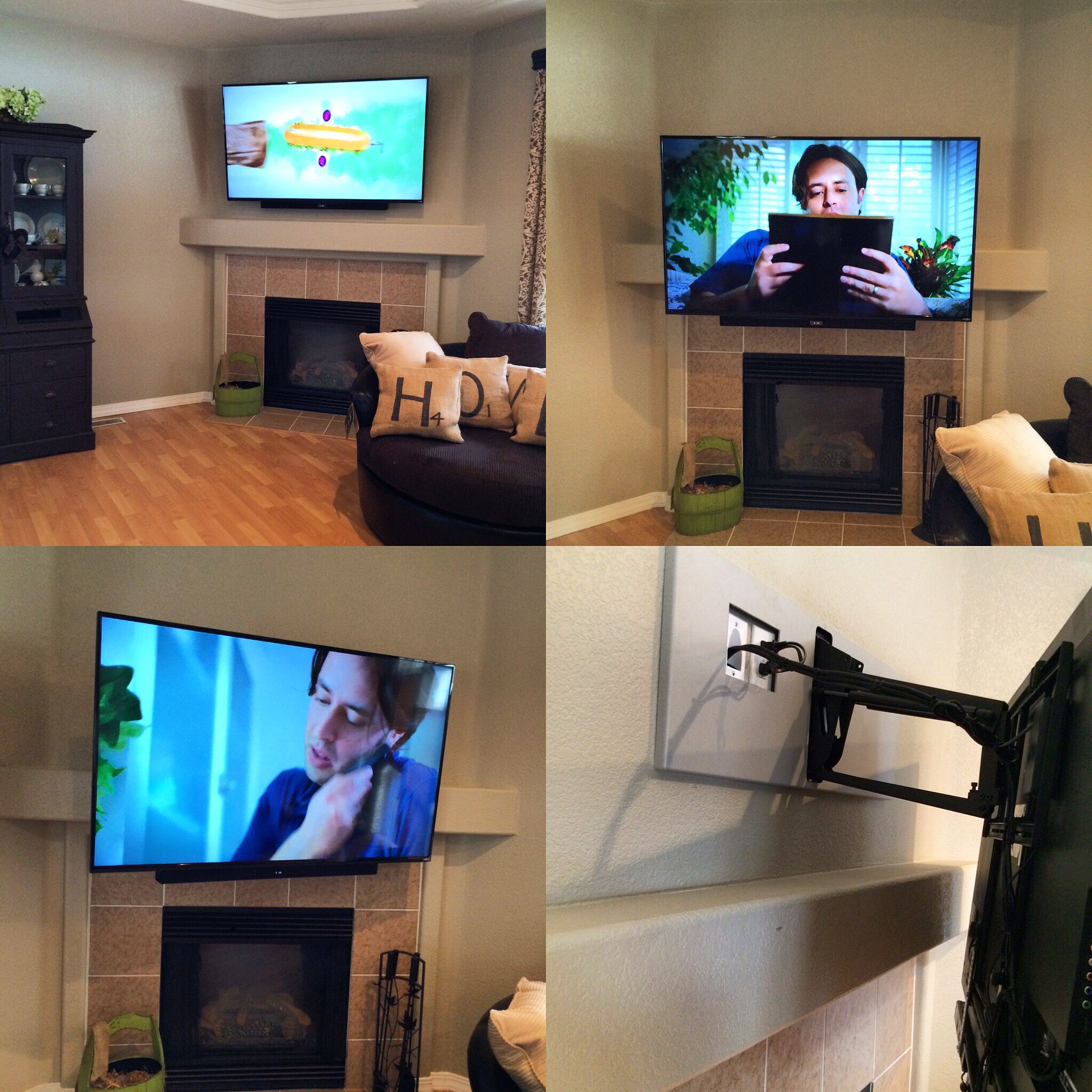 fireplace tv mount how to mount a tv over a brick fireplace and