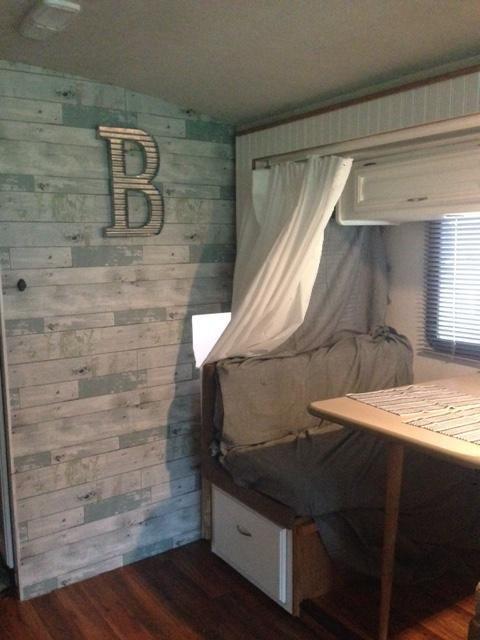 Wallpops Nuwallpaper Peel Stick Wallpaper Beachwood Joann Camper Interior Design Remodeled Campers Camper Makeover
