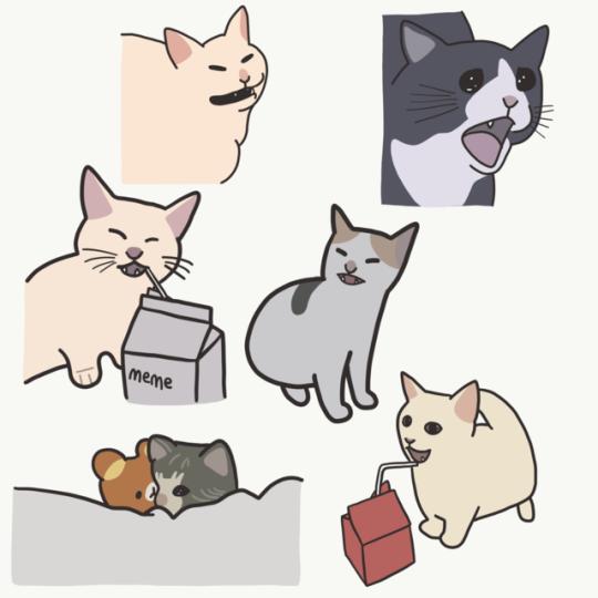 Crying Cat Meme Drawing en 2020 Creatividad, Haku