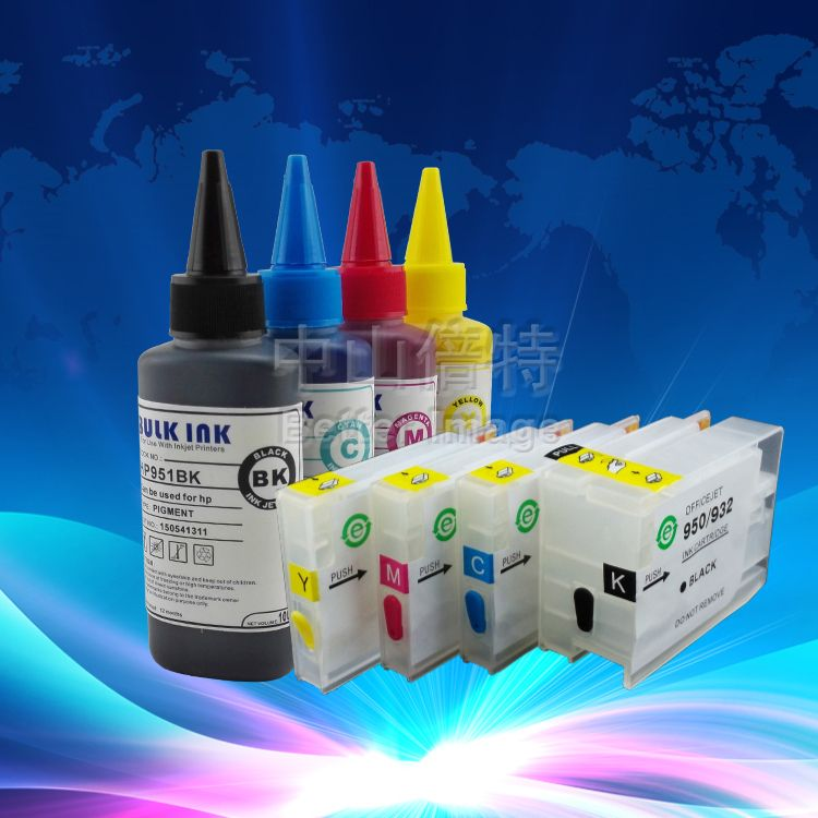 Ink Refill Kit For Hp932 933 Suitable For Hp Officejet 6100 6600 6700 Printer Pigment Ink And Refillable Cartridges Ink Refill Hp Officejet Printer