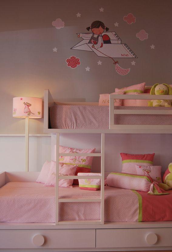 Habitacionesinfantiles con vinilos person alizados habitaciones infantiles pinterest - Habitaciones infantiles barcelona ...