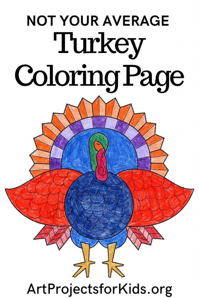 Turkey Coloring Page · Art Projects for Kids