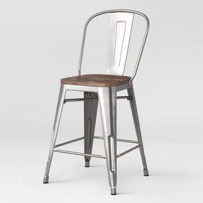 Super 24 Carlisle Metal Counter Stool With Wood Seat Natural Unemploymentrelief Wooden Chair Designs For Living Room Unemploymentrelieforg
