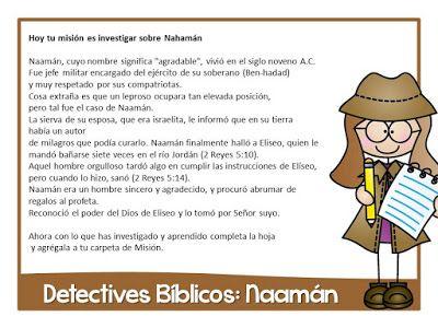 Naamán | espías | Pinterest | Historia de la biblia, Dominical y La ...